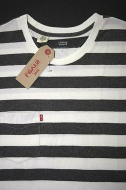 100% Cotton Striped Levi's Men's T-Shirt 193420057
