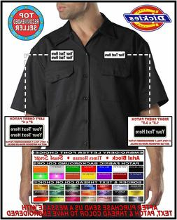 Dickies 1574 Mens Custom Embroidered Garage Work Shirt w/ 2