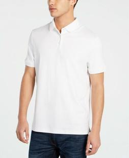 $175 CALVIN KLEIN Men's FIT WHITE SHORT-SLEEVE LIQUID COTTON