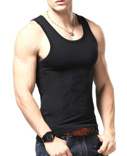 3-6 Mens 100% Cotton A-Shirt Tank Top Ribbed Undershirt Wife