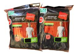 6 pack hanes mens black t shirts choose your size