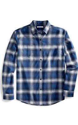 Amazon Essentials Men's Regular Fit Long-Sleeve Plaid Flanne