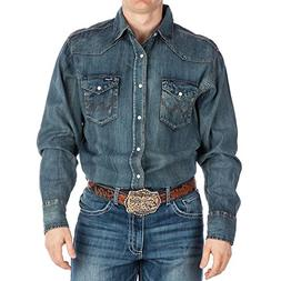 Wrangler Men's Authentic Cowboy Cut Work Western Long-Sleeve