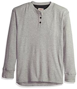 Wrangler Authentics Men's Long Sleeve Waffle Henley, light h