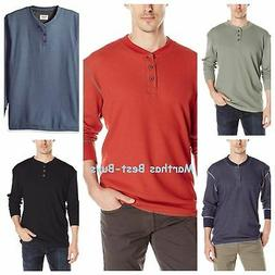 Wrangler Authentics Mens Long Sleeve Waffle Knit Henley Shir