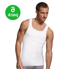 BEST VALUE! Men's Tank Top PACK OF 6: Athletic A-shirt/Wife
