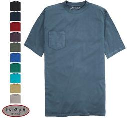 Falcon Bay Big & Tall Men's 100% Cotton Pocket T-Shirt  3XL