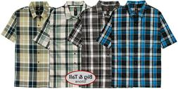 Big & Tall Men's Dickies Relaxed Fit Plaid Camp Shirt 3XL