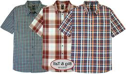 Big & Tall Men's Dickies Relaxed Fit Plaid Shirt 3XL – 6