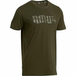 PUMA Camo Logo T-Shirt Men Tee Basics New