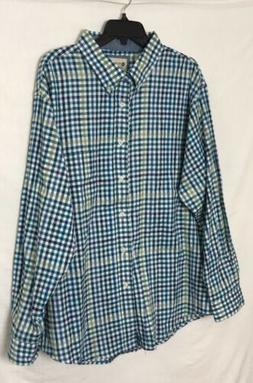 Haggar Classic Fit Button Down Shirt Men's Size XX-Large Lon