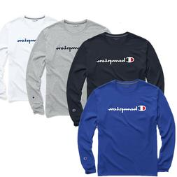 Classic Champion Men Jersey Script Logo Long Sleeves T-Shirt