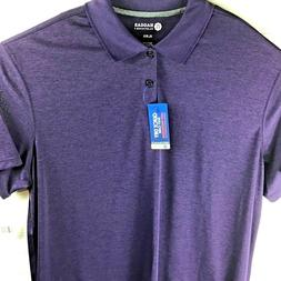 Haggar Clothing  Mens Polo Shirt XL Purple Golf Quick Dry Po
