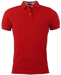 Tommy Hilfiger Mens Custom Fit Solid Color Polo Shirt - L -