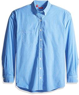 IZOD Men's Big and Tall Essential Check Long Sleeve Shirt, A