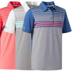Adidas Golf Men's Ultimate 365 3-Stripe Heathered Polo Shirt