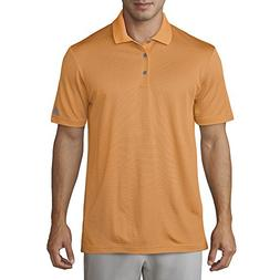 adidas Golf Men's 2-Color Stripe Polo, Real Gold/Trace Royal