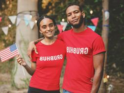 GRUBHUB Delivery RED T-Shirt Uniform PRINT and SHIP SAME DAY