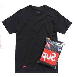hanes tagless black and white tee 1