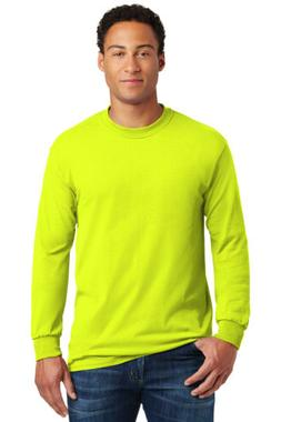 Gildan Heavy Cotton Long Sleeve T Shirt Mens Blank Basic Pla