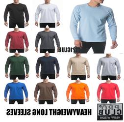 PRO CLUB LONG SLEEVE HEAVYWEIGHT T SHIRTS PROCLUB MEN PLAIN