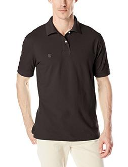 IZOD Men's Heritage Solid Pique Polo, Black, 2X-Large