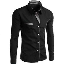Hot Sale New Fashion Camisa Masculina Long Sleeve <font><b>S