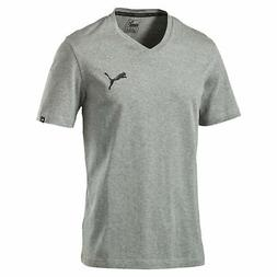 PUMA Iconic V-Neck T-Shirt Men Tee Basics