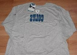 Indianapolis Colts Long Sleeve T-shirt 4XL Equipment Logo St