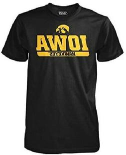 Iowa Hawkeyes Banner Mascot Wordmark Men's Performance T-Shi