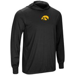Iowa Hawkeyes Colosseum Black LS Hooded T-Shirt