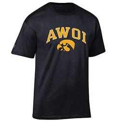 Elite Fan Shop Iowa Hawkeyes Tshirt Varsity Black - XL