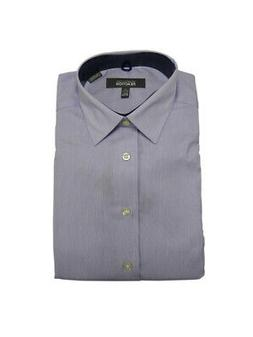 Kenneth Cole Men's Long Sleeve Slim Fit Non-Iron Button-Down
