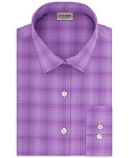Kenneth Cole Men's Slim-Fit Stretch Plaid Dress Shirt, Size