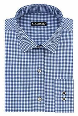 Kenneth Cole Unlisted Men's Slim Fit Check Spread Collar Dre