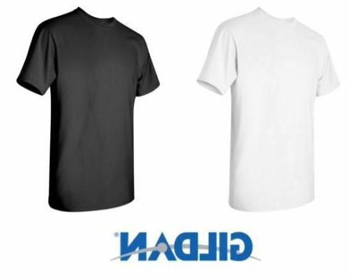 100 Gildan T-SHIRT BLANK BULK LOT Black 50 Mix Match White P