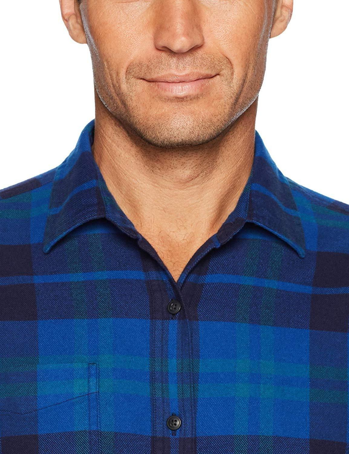 Amazon Essentials Men's Long-Sleeve Plaid Flannel Shirt