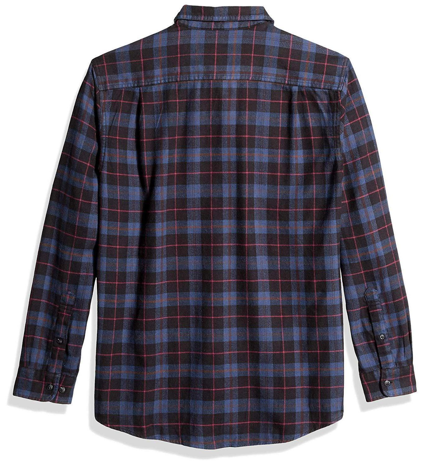 Amazon Essentials Men's Regular-Fit Long-Sleeve Plaid Shirt