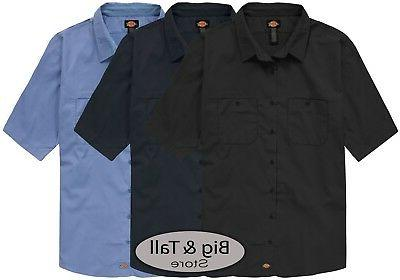 big and tall mens ventilated work shirt