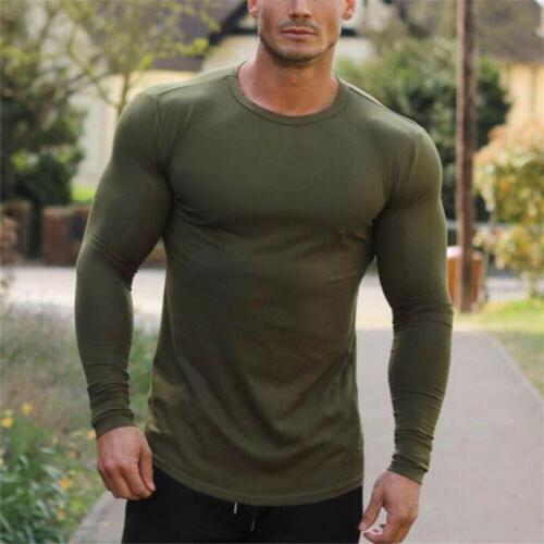 Bodybuilding Long Men's Tops Fitness Workout