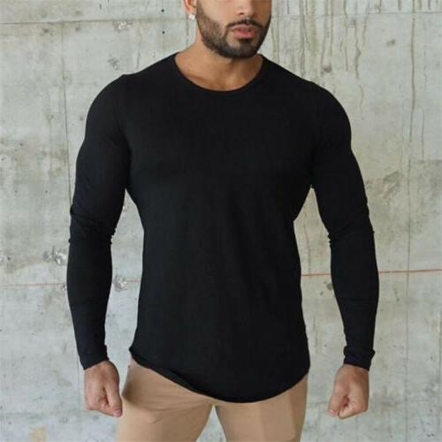 Bodybuilding Long Sleeve Men's Slim Muscle