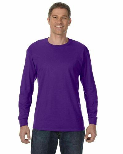 Gildan Heavy Cotton Long Sleeve T Shirt Blank Plain Basic 5400 S-3XL