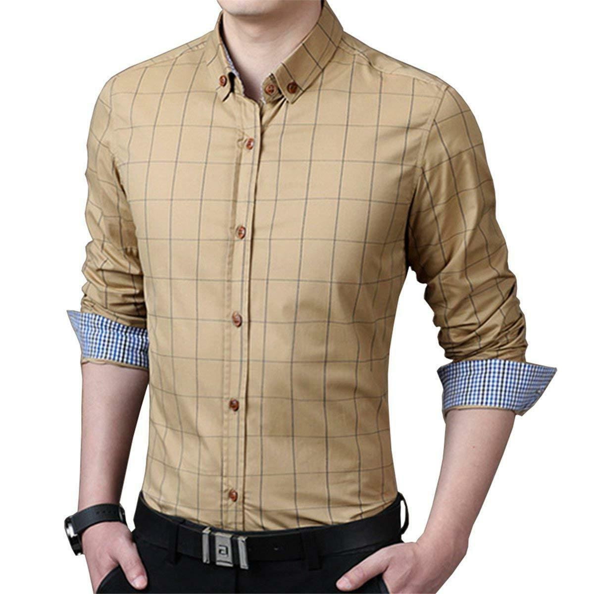 LOCALMODE Long Sleeve Plaid Fit Shirt