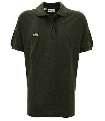 Men's classic short-sleeved anthracite mélange polo shi