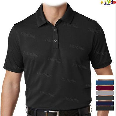 MEN'S CASUAL DRY FIT SPORT PLAIN POLO SHIRT COOLING GOLF 100