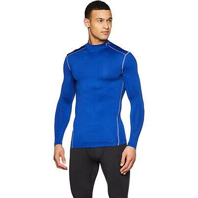 men s coldgear compression mock long sleeve