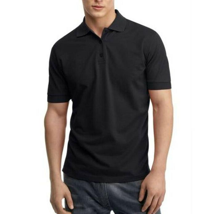 Men's Causal Cotton Polo Sleeve Sport Golf T