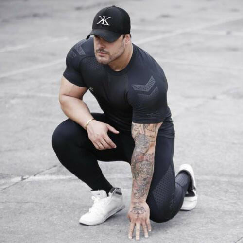 Fashion Men's Slim Fit O Short Muscle Tee T-shirt Tops Blouse