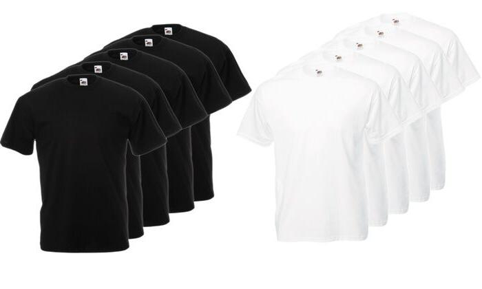 Men's Fruit of the Loom HD Cotton T-Shirt lot of 1, 3, 6,9,1