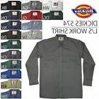 Dickies - Men's LONG SLEEVE button front Work Shirts 574 S -